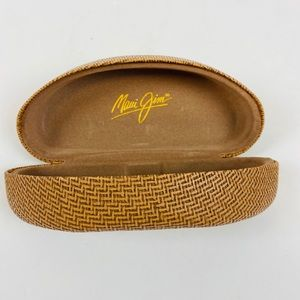 Maui Jim Clamshell Basket Weave Sunglasses Case